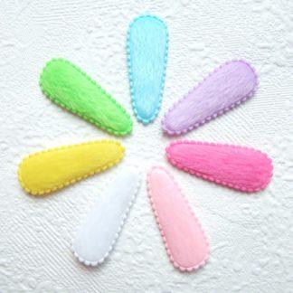 Bonte kniphoesjes voor 4 cm haarclipjes in negen verschillende kleuren