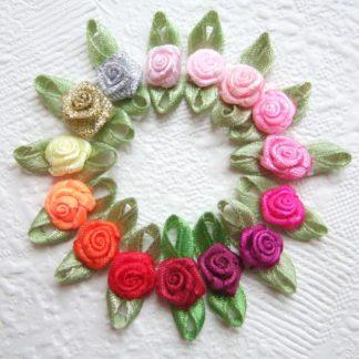 Roosjes met blad - 10 mm