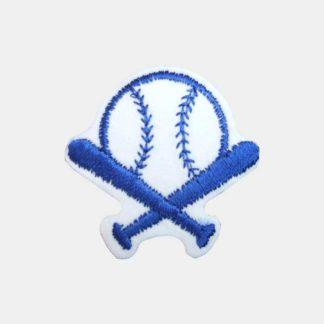Blauwe baseball strijkapplicatie