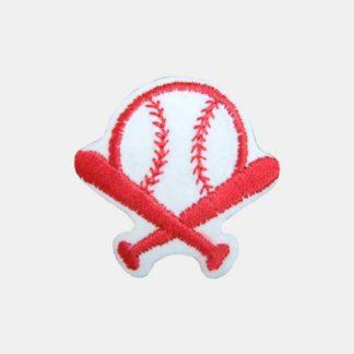 Rode baseball strijkapplicatie